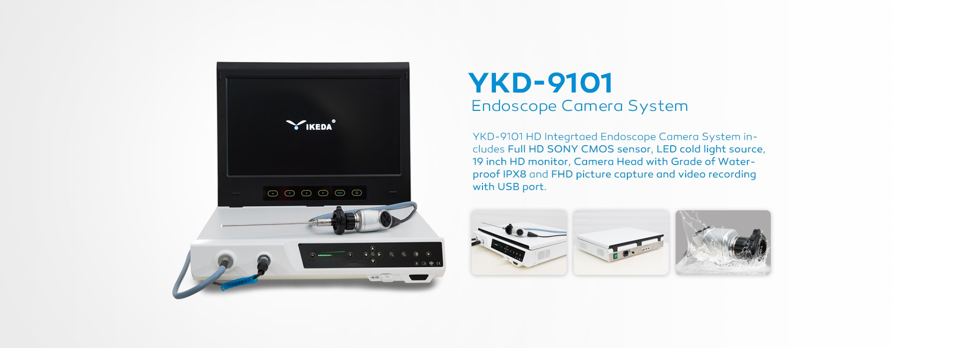 Full HD portable endoscope camera