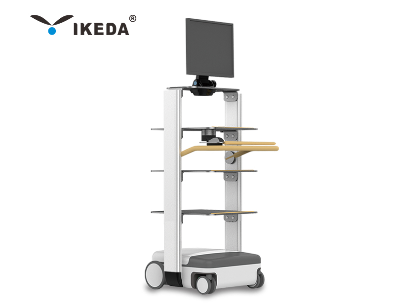 Adjustable Height Medical Trolley