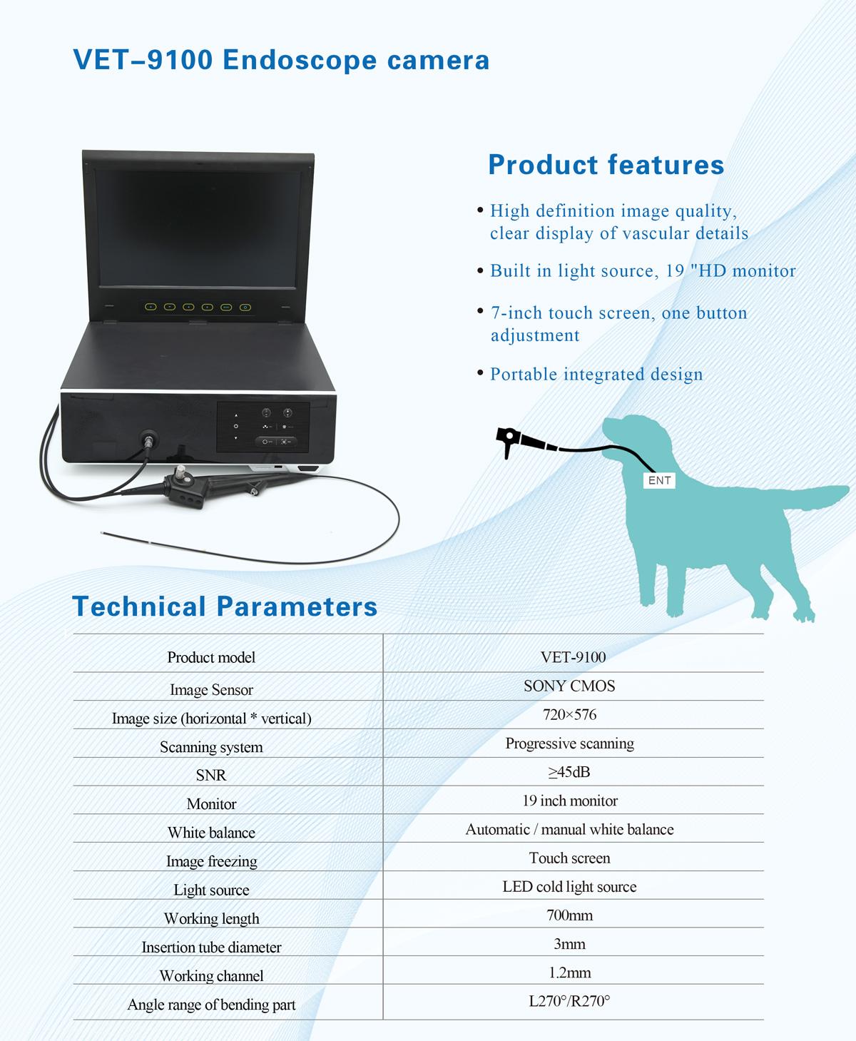 VET-9100  HD Portable Veterinary Endoscope